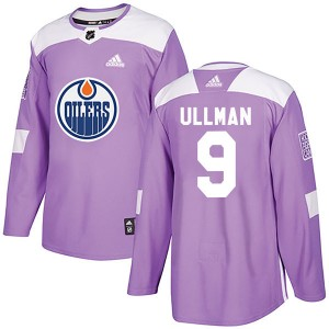 Norm Ullman Edmonton Oilers Youth Adidas Authentic Purple Fights Cancer Practice Jersey