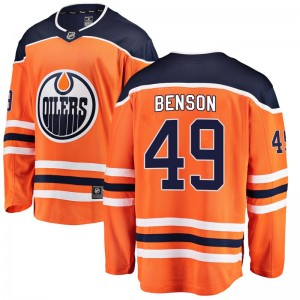 Tyler Benson Edmonton Oilers Youth Fanatics Branded Orange Breakaway Home Jersey