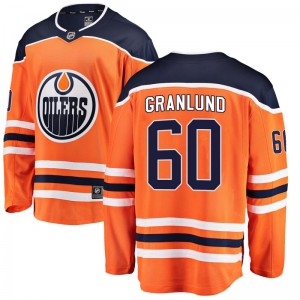 Markus Granlund Edmonton Oilers Youth Fanatics Branded Orange Breakaway Home Jersey
