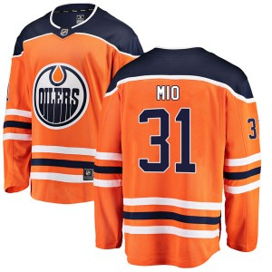 Eddie Mio Edmonton Oilers Youth Fanatics Branded Authentic Orange r Home Breakaway Jersey