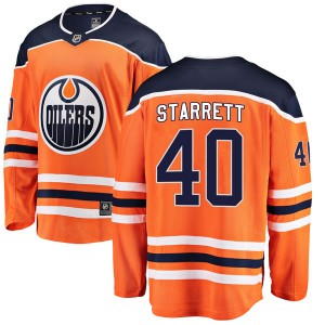 Shane Starrett Edmonton Oilers Youth Fanatics Branded Authentic Orange r Home Breakaway Jersey