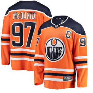 Connor McDavid Edmonton Oilers Men's Fanatics Branded Orange Home Breakaway Jersey