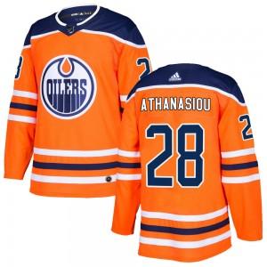 Andreas Athanasiou Edmonton Oilers Men's Adidas Authentic Orange ized r Home Jersey