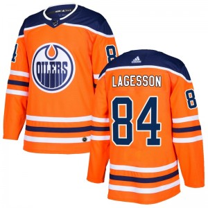 William Lagesson Edmonton Oilers Men's Adidas Authentic Orange r Home Jersey