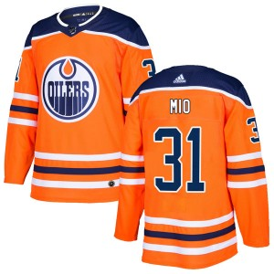 Eddie Mio Edmonton Oilers Men's Adidas Authentic Orange r Home Jersey