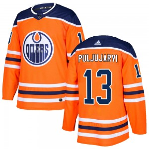 Jesse Puljujarvi Edmonton Oilers Men's Adidas Authentic Orange r Home Jersey