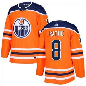 Ty Rattie Edmonton Oilers Men's Adidas Authentic Orange r Home Jersey
