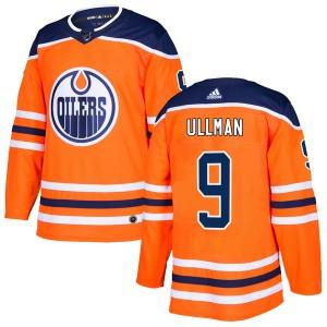 Norm Ullman Edmonton Oilers Men's Adidas Authentic Orange r Home Jersey