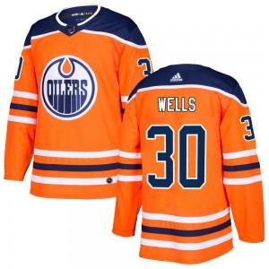 Dylan Wells Edmonton Oilers Men's Adidas Authentic Orange r Home Jersey