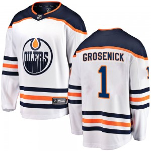 Troy Grosenick Edmonton Oilers Youth Fanatics Branded White Breakaway Away Jersey