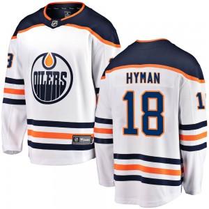 Zach Hyman Edmonton Oilers Youth Fanatics Branded White Breakaway Away Jersey