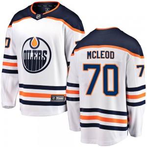Ryan McLeod Edmonton Oilers Youth Fanatics Branded White ized Breakaway Away Jersey