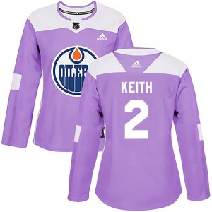 Duncan Keith Edmonton Oilers Women's Adidas Authentic Purple Fights Cancer Practice Jersey