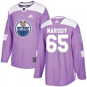 Cooper Marody Edmonton Oilers Men's Adidas Authentic Purple Fights Cancer Practice Jersey