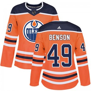 Tyler Benson Edmonton Oilers Women's Adidas Authentic Orange r Home Jersey