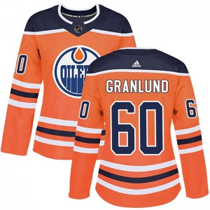 Markus Granlund Edmonton Oilers Women's Adidas Authentic Orange r Home Jersey