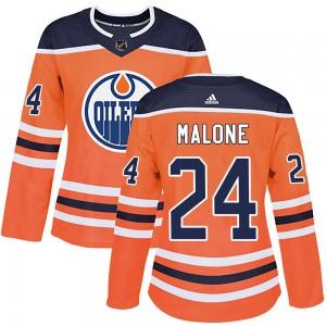Brad Malone Edmonton Oilers Women's Adidas Authentic Orange r Home Jersey