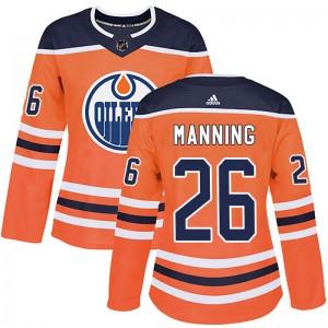 Brandon Manning Edmonton Oilers Women's Adidas Authentic Orange r Home Jersey