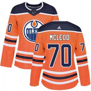 Ryan McLeod Edmonton Oilers Women's Adidas Authentic Orange ized r Home Jersey
