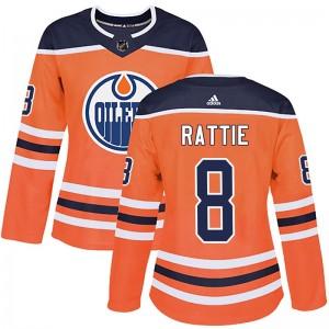 Ty Rattie Edmonton Oilers Women's Adidas Authentic Orange r Home Jersey