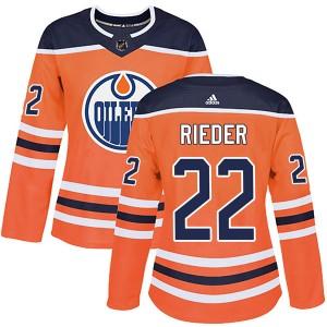 Tobias Rieder Edmonton Oilers Women's Adidas Authentic Orange r Home Jersey