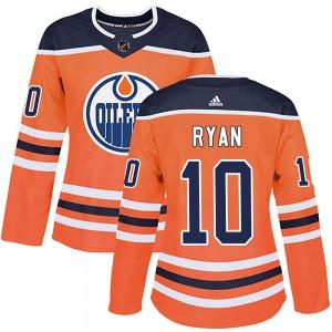 Derek Ryan Edmonton Oilers Women's Adidas Authentic Orange r Home Jersey