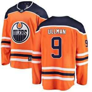 Norm Ullman Edmonton Oilers Men's Fanatics Branded Authentic Orange r Home Breakaway Jersey