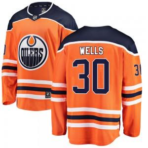 Dylan Wells Edmonton Oilers Men's Fanatics Branded Orange Breakaway Home Jersey