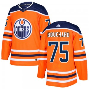 Evan Bouchard Edmonton Oilers Youth Adidas Authentic Orange ized r Home Jersey