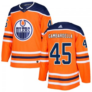 Joe Gambardella Edmonton Oilers Youth Adidas Authentic Orange r Home Jersey