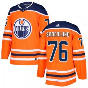 Tim Soderlund Edmonton Oilers Youth Adidas Authentic Orange r Home Jersey