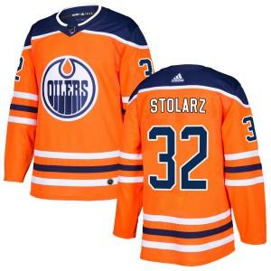 Anthony Stolarz Edmonton Oilers Youth Adidas Authentic Orange r Home Jersey