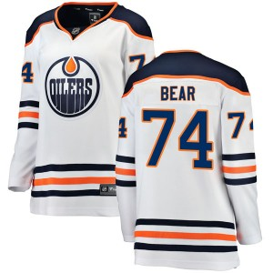 Ethan Bear Edmonton Oilers Women's Fanatics Branded Authentic White Away Breakaway Jersey