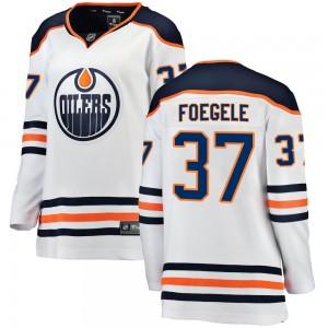 Warren Foegele Edmonton Oilers Women's Fanatics Branded White Breakaway Away Jersey