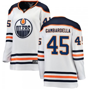 Joe Gambardella Edmonton Oilers Women's Fanatics Branded White Breakaway Away Jersey