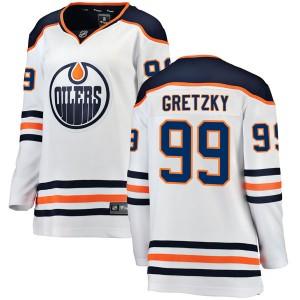 Wayne Gretzky Edmonton Oilers Women's Fanatics Branded White Breakaway Away Jersey