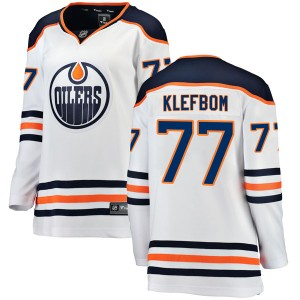Oscar Klefbom Edmonton Oilers Women's Fanatics Branded Authentic White Away Breakaway Jersey