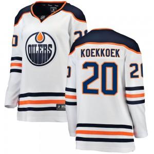 Slater Koekkoek Edmonton Oilers Women's Fanatics Branded White Breakaway Away Jersey