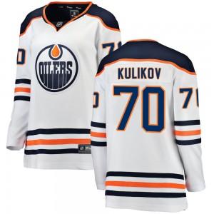Dmitry Kulikov Edmonton Oilers Women's Fanatics Branded White Breakaway Away Jersey
