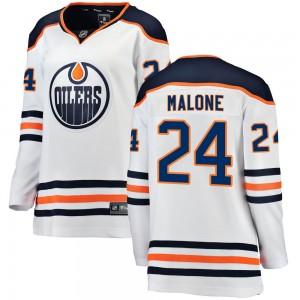 Brad Malone Edmonton Oilers Women's Fanatics Branded Authentic White Away Breakaway Jersey