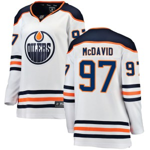 Connor McDavid Edmonton Oilers Women's Fanatics Branded Authentic White Away Breakaway Jersey