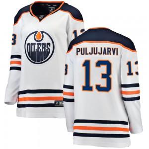 Jesse Puljujarvi Edmonton Oilers Women's Fanatics Branded White Breakaway Away Jersey