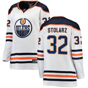 Anthony Stolarz Edmonton Oilers Women's Fanatics Branded White Breakaway Away Jersey