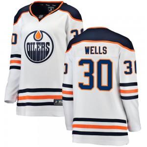 Dylan Wells Edmonton Oilers Women's Fanatics Branded White Breakaway Away Jersey