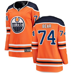 Ethan Bear Edmonton Oilers Women's Fanatics Branded Authentic Orange r Home Breakaway Jersey