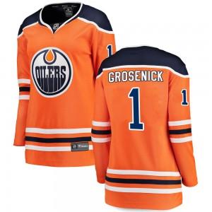 Troy Grosenick Edmonton Oilers Women's Fanatics Branded Orange Breakaway Home Jersey