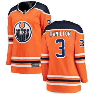 Al Hamilton Edmonton Oilers Women's Fanatics Branded Authentic Orange r Home Breakaway Jersey