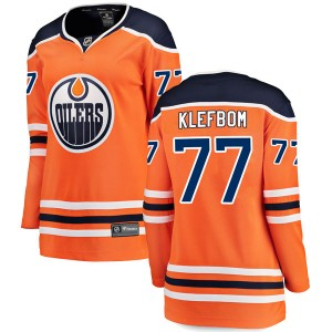 Oscar Klefbom Edmonton Oilers Women's Fanatics Branded Authentic Orange r Home Breakaway Jersey