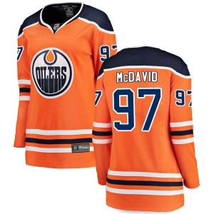 Connor McDavid Edmonton Oilers Women's Fanatics Branded Authentic Orange r Home Breakaway Jersey