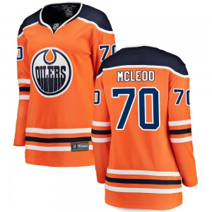 Ryan McLeod Edmonton Oilers Women's Fanatics Branded Orange ized Breakaway Home Jersey